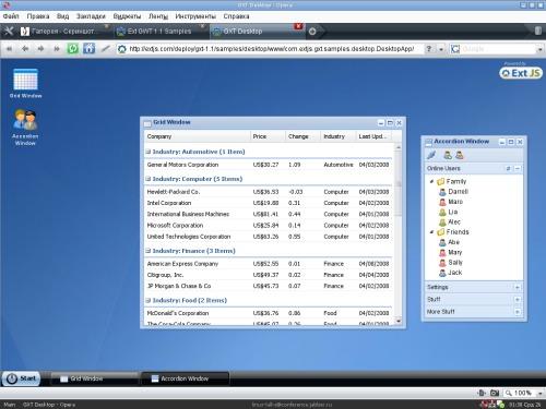 EXTJS Web Framework