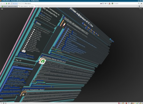 LOR в 3D/Firefox Tilt 3D Extension