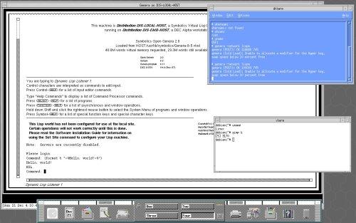 OpenGenera на Digital Unix и Debian