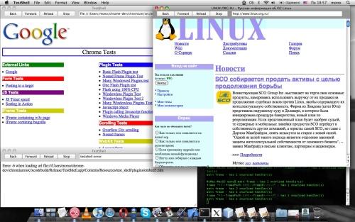 Google Chrome Mac TestShell