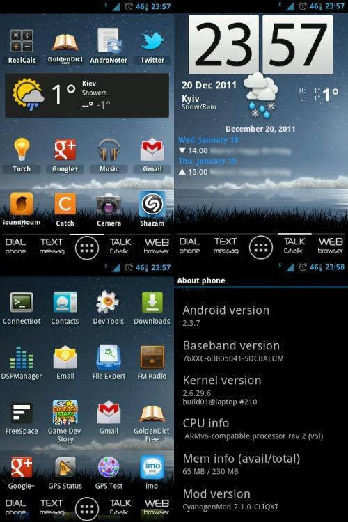 CyanogenMod on Motorola Cliq XT
