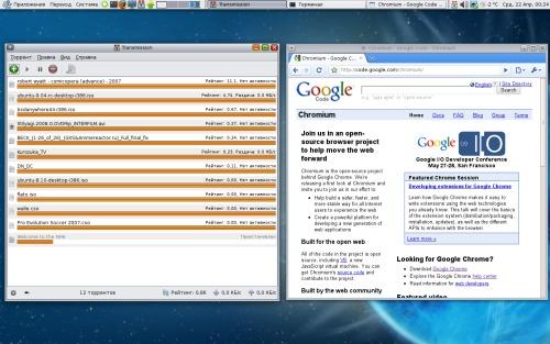 ubuntu 9.04, chromium, transmission