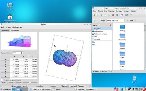 Gnome 2.26, работа над системой геометрического моделирования