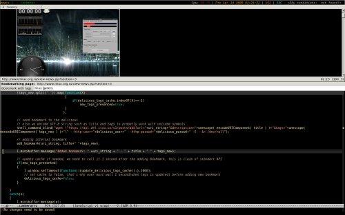 Emacs conkeror, просто скриншот