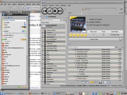 Kde 4.3 + Amarok 2.2 GIT on Karmik