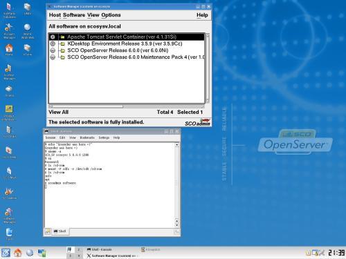 SCO Openserver 6 KDE 3.5.9