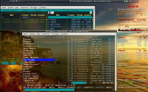 Ноутбук с Debian Lenny