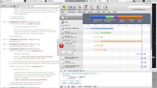 Midori 0.2.3-git и его web inspector