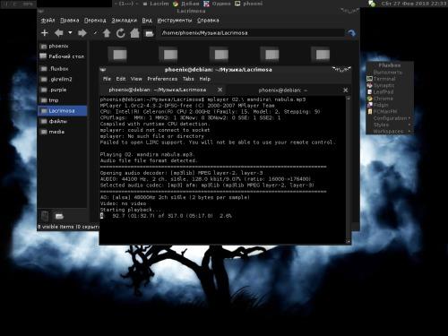 Debian 5.0.4, fluxbox