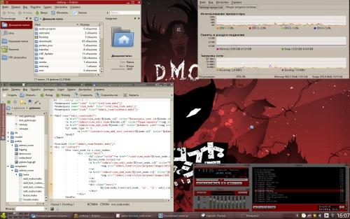 Приятный и простой KDE4 (Red Style)