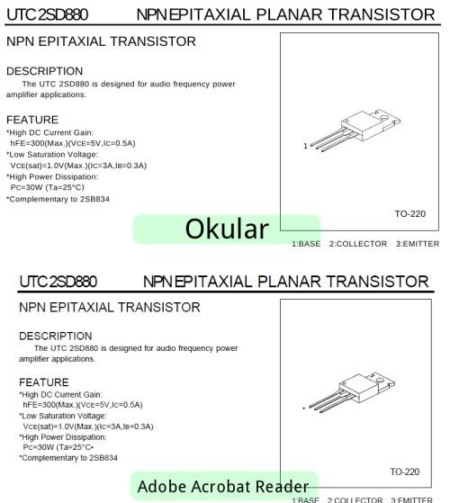 Okular и Acrobat Reader - отображение pdf