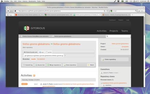 gnome-globalmenu в Firefox 3