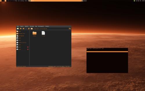 оранжевый awesomeWM