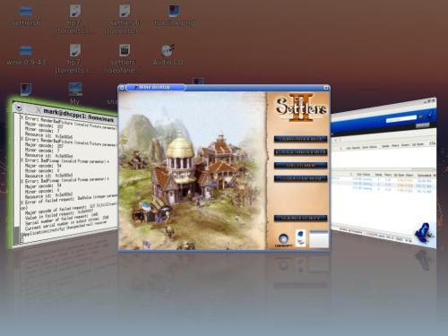 Compiz Fusion,Settlers 2 и PCLinux 2007