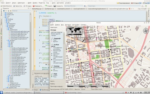 Скриншот: GSoC 2011: OSM render for Marble