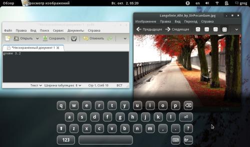 gnome 3.2 готов для планшетов