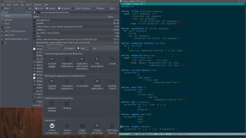 Еще одно KDE (темно)