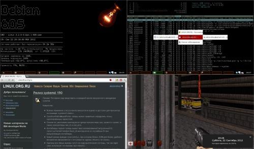 Debian, netbook и угадай-какой-WM