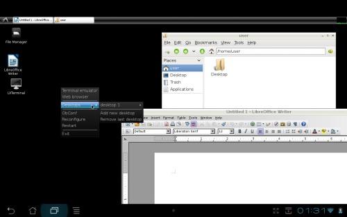 Debian на борту андроида-трансформера