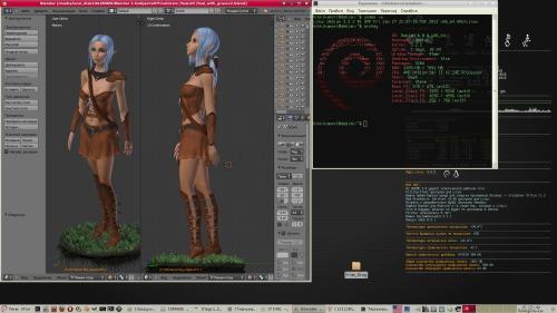 Blender 2.6 и Debian