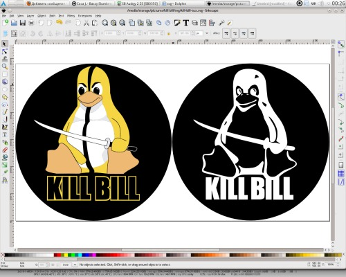 Kill Bill Tux in SVG