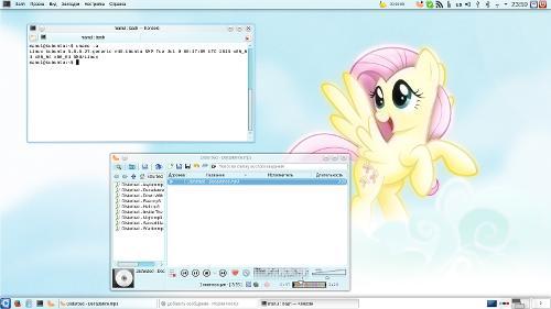 Kubuntu, KDE 4.10 + Fluttershy