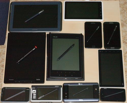 Tablets on table