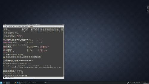 ArchLinux dark KDE