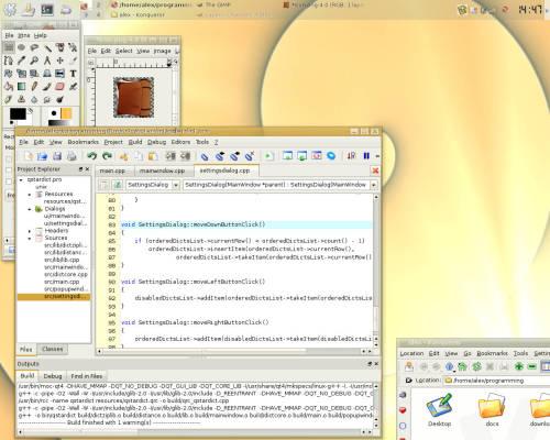 KDE в золотистых тонах