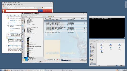 Аккуратное спокойное KDE
