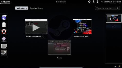Linux Desktop в SteamOS GNU/Linux