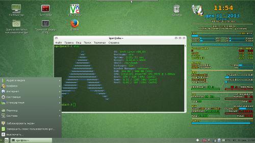 Arch + mate. Система стоит на нетбуке, нет никаких компизов и прочих свистопирделок.