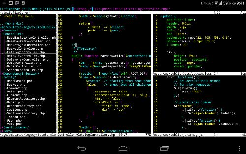 just for fun coding on Nexus 7