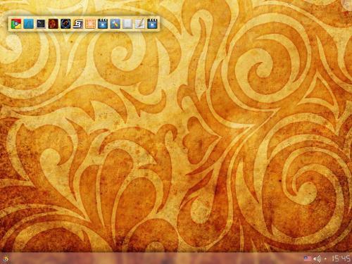 Почти стандартный Debian-desktop...