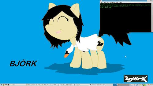 Xfce, Slackware, пони