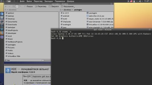 Ноут, KDE