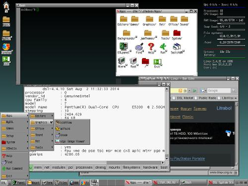 Damn Small Linux в Oracle VM VirtualBox