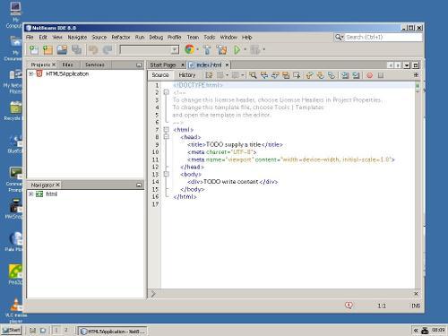 NetBeans IDE 8.0 под ReactOS