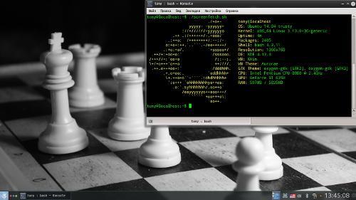 Дефолтные черные кеды Ubuntu 14.04.1