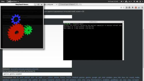 Gentoo, GNOME 3.14, Wayland