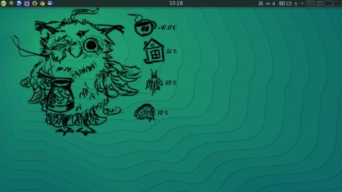 почти дефолтная openSUSE
