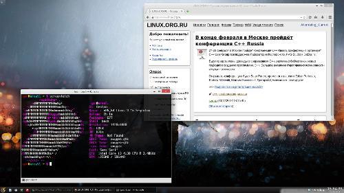 KDE, Gentoo, KElementary + Oxygen