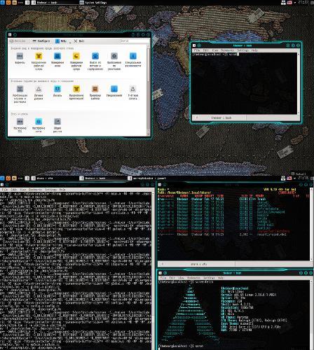 Неоновый стол или KDE с подсветкой