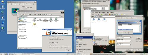 Эксплорер в ReactOS vs эксплорер Windows 2000