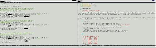 emacs в терминале на двух мониторах