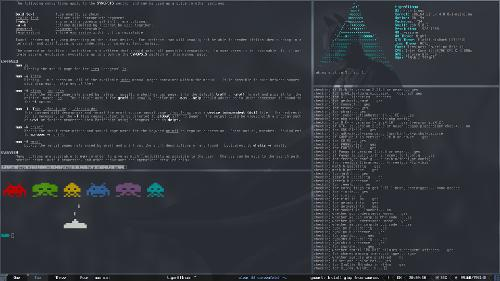 Мой старый Awesome  на моём старом Arch Linux