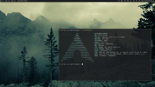 Arch + Xmonad + Vim или типичный набор школьника