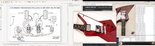 Про LibreOffice Draw, рисование схем подключения в Ubuntu 15.10, гитары, паяльник и импортозамещение