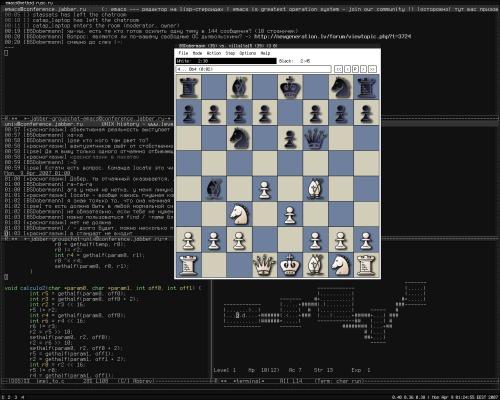 Мой домашний emacs и шахматишки..