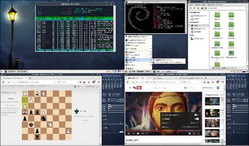 Debian stretch + xfce на intel atom